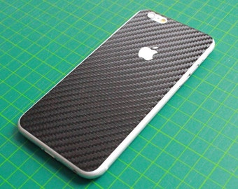 iPhone 6 / 6 plus / 6s / 6S plus stickers/sticker/skin - treatment for the back. Effect: 3D carbon / carbon, black.