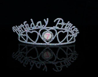 Birthday Princess Multi Age Sparkle Tiara Party Favor Decor - 150600