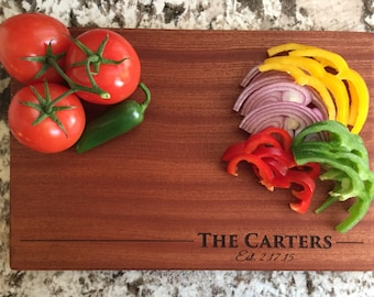 Personalized Mahogany Cutting Board 10x15- Carter Style