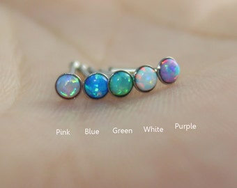 More Colors for choice! Fire Opal Stud Nose Ring,Nose bone Ring,Nose Piercing ,Fire opal piercing jewelry