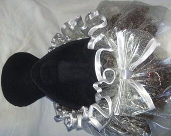 Silver Princess Shimmer Shower Caps