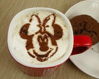 Mickey Minnie  - coffee stencil, cake stencil, cupcake stencil