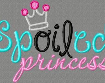 spOILed princess 5X7 Embroidery design, oilfield daddy, princess