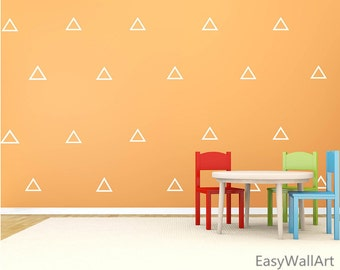 Triangle Wall Decal Patterns - Triangle Wall Pattern Triangle Wall Decals Triangle for Living room,Bedroom,Nursery,Triangle Wall Stickers P7