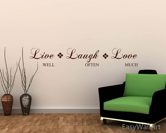 live well laugh often love much wall quotes decal for. Black Bedroom Furniture Sets. Home Design Ideas