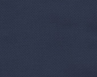 Zweigart Navy Blue 14 count Aida Cross Stitch Fabric  - 50 x 55cm piece