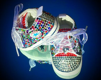 Bedazzled Bling Baby Shoes - Punky Brewster