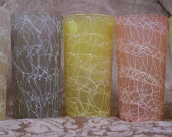 Vintage Textured Drinking Glasses