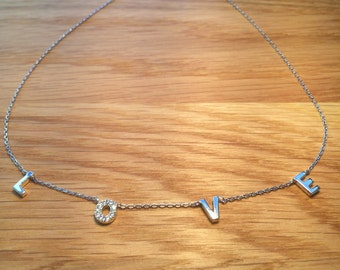 Love Necklace, 925 Sterling Silver, What Your Outfit's Been Missing • Safe to Get Wet • An Original Love Gift to Give or Keep, CZ Love