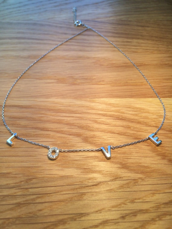 love necklace in real solid sterling silver NOW ON SALE