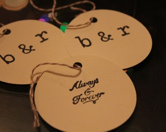 48 Tags Round Personalize Get 15 Tags Free