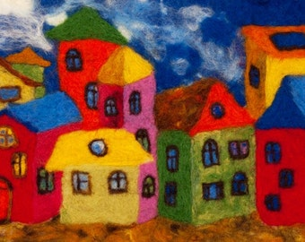 felting painting About Good Mood