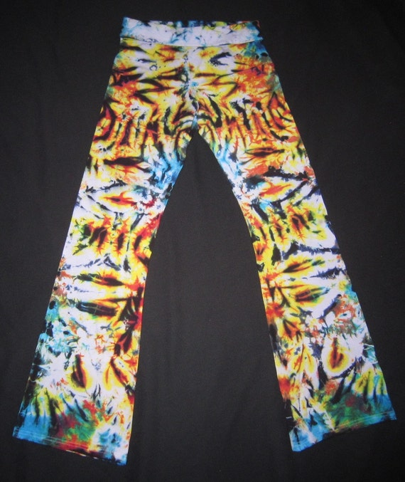 06 Psychedelic Yoga Pants Size Extra XL By PsychedelicYogaShop