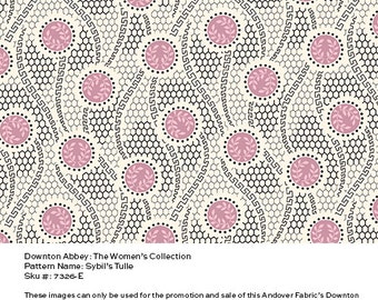 Downton Abbey Fabric - Sybil's Tulle in Pink