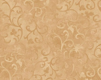 Essentials Fabric - Light Tan Scroll