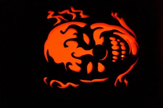 Sold outorder for next year evil clown 12 foam pumpkin for Creepy clown pumpkin stencil