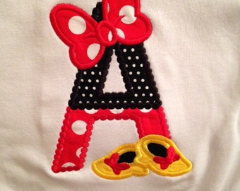 Minnie Initial Shirt