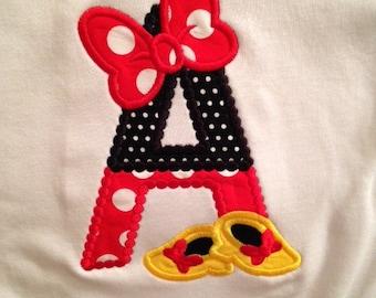 Minnie Initial Shirt