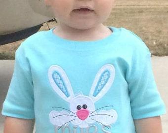 Aqua Blue Bunny Shirt