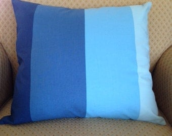 Blue Ombré Pillow Cover