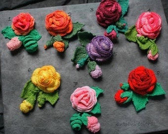 Crochet rose brooch, rose feelings, eco friendly, gift, handmade brooch, flower brooch, rose applique, OOAK,