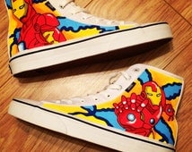 Iron Man Shoes, Custom Shoes, Custom Converse, Converse Allstars, Vans Shoes, Painted Shoes