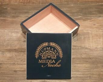 H. Upmann Media Noche Cedar Wood Cigar Box for DIY Projects or Storage