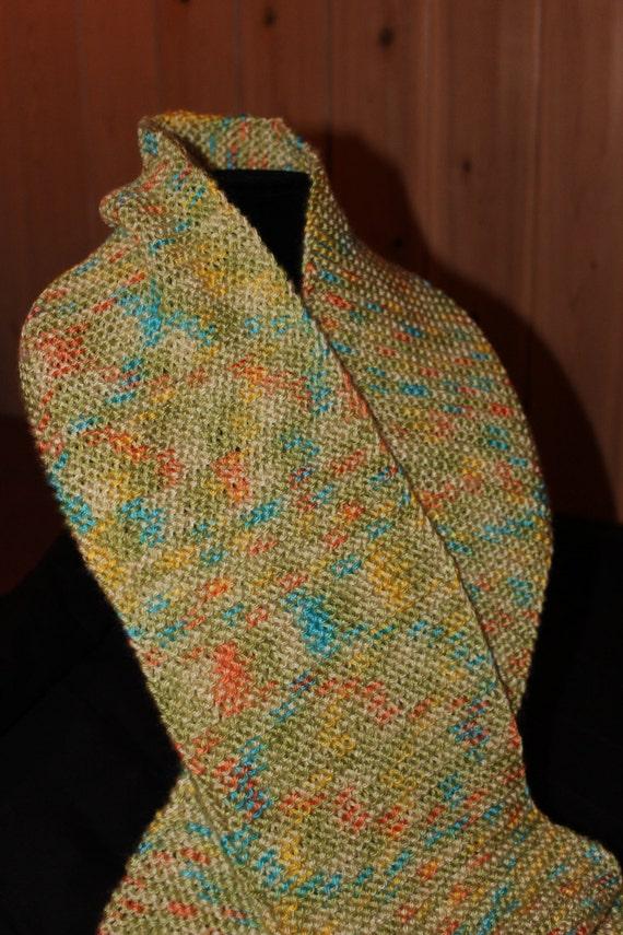 Knitting A Scarf Garter Stitch : Hand Knit Scarf in a Garter Stitch Pattern