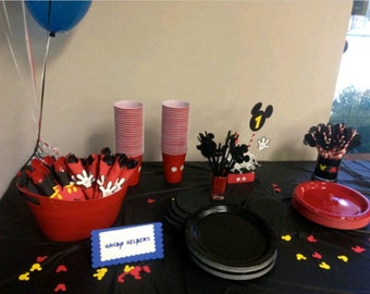 Mickey Mouse Party! Complete party decoration set. Mickey Mouse Clubhouse Party! Mickey Mouse Party Package.