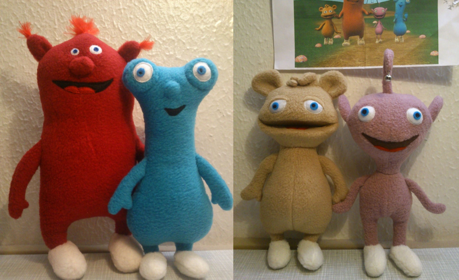 Like Toy Tv : Plush toys just like cuddlies by littleelfscro on etsy