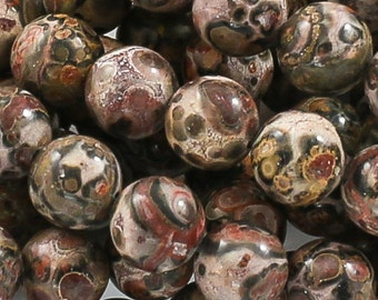 Leopard Skin Jasper Smooth Round 4-10mm