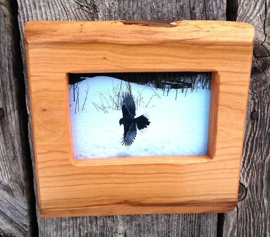 4 x 6 wood picture frame handmade rustic valentine 39 s. Black Bedroom Furniture Sets. Home Design Ideas