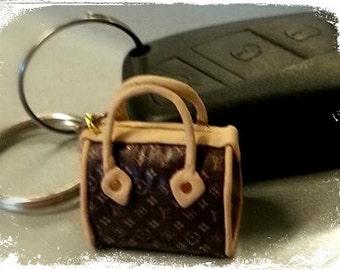 Polymer Clay high fashion bag keychain