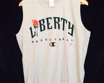 Vintage New York Liberty Sleeveless T Shirt - Medium