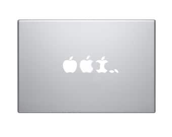 Evolution of Macbook Eaten Decal Macbook Sticker Mac Decal Mac Sticker Decal for Apple Laptop Macbook Pro / Macbook Air