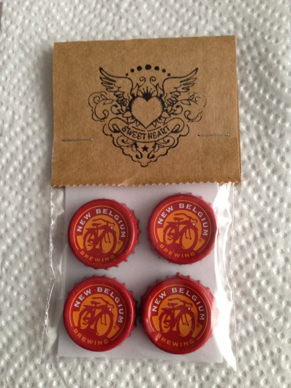 Items similar to craft beer bottle cap magnets new - Beer bottle caps recyclable ...