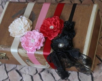 Girls flower sash available in 4 colors-toddler-newborn-photos-accesories-baby-babies-ribbon-wedding-dressup