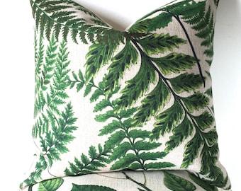 Outdoor cushion, Green Fern Cushion Cover, Botanical Leaves Cushion, Plant Pillow, Tropical cushion, Nature Outdoor cushion, Garden cushion
