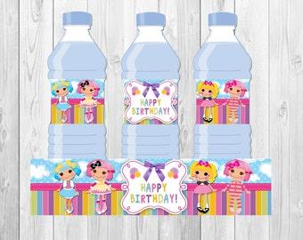 Lalaloopsy water bottle label