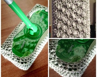 Crocheted Swiffer Covers // Reusable Swiffer Pads