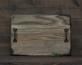 Handcrafted Rustic Wood Serving Tray