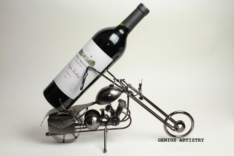 Motorcycle Wine Rack Metal Wine Stand Real Wine Bottle