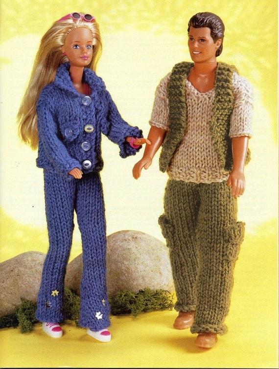 Knitting Patterns For Teenage Dolls : Teenage Dolls Knitting Patterns Barbie Jeans Jacket Ken