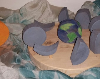 Wooden Moon Phases