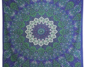 Mandala Tapestry, Indian Cotton Tapestries, Full Size Wall Hanging, Home Décor Bedspread, Bohemian Wall Tapestries, Picnic Blanket, TP1783B