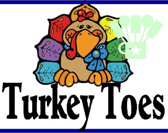 Turkey Toes Candy Bag Topper Printable