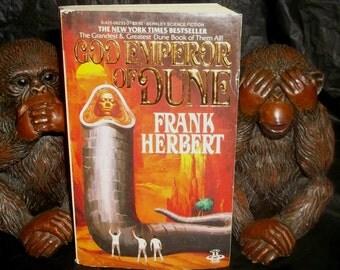 FRANK HERBERT God Emperor of DUNE Vintage Paperback Book 1983