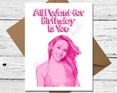 items similar to mariah carey funny card  all i want for birthday, Birthday card