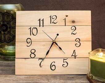 Rustic Reclaimed Wood Clock