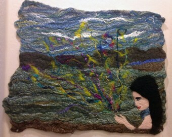 Wishes - Abstract Felted Wool Art